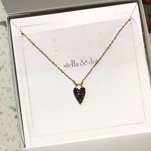Stella & Dot Reversible Heart Necklace